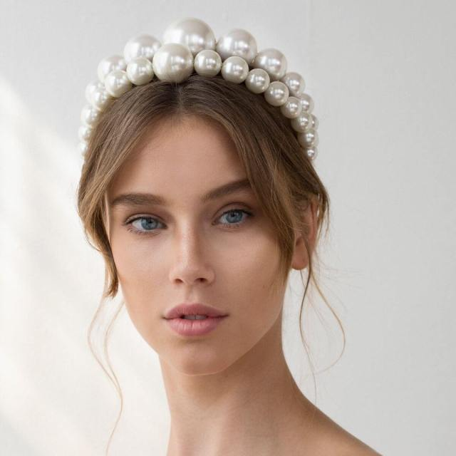Pearl Headband Bridal Trend Keren Wolf