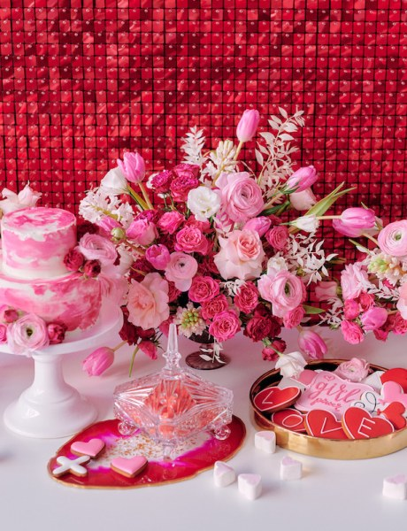 Red, Pink and Chic Valentine's Day Party Inspiration-16