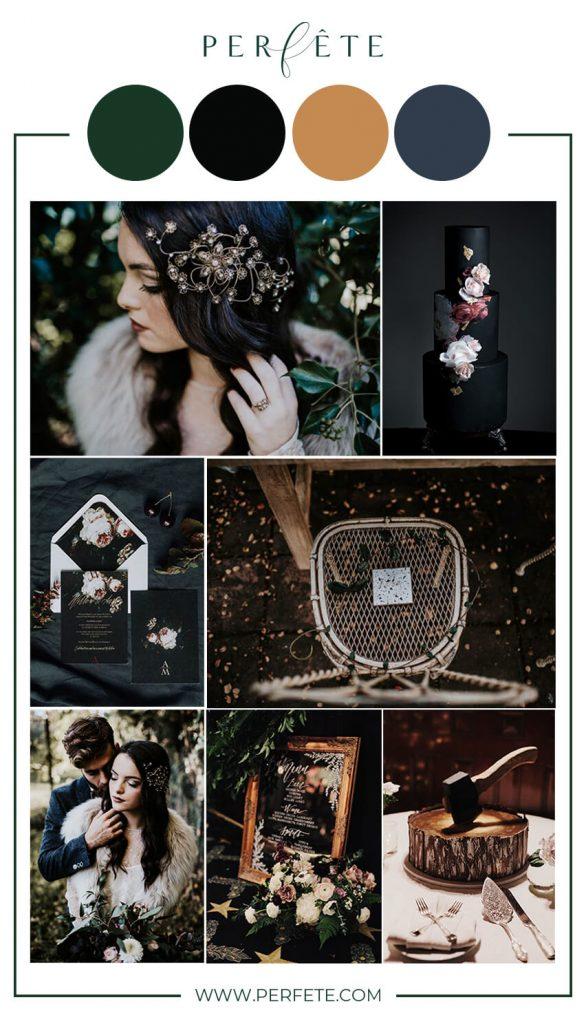 dark and moody wedding colors
