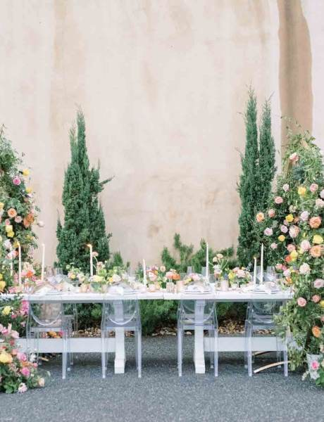 Breathtaking Outdoor Vineyard Wedding with Gold Details and Bright Floral Decor-31
