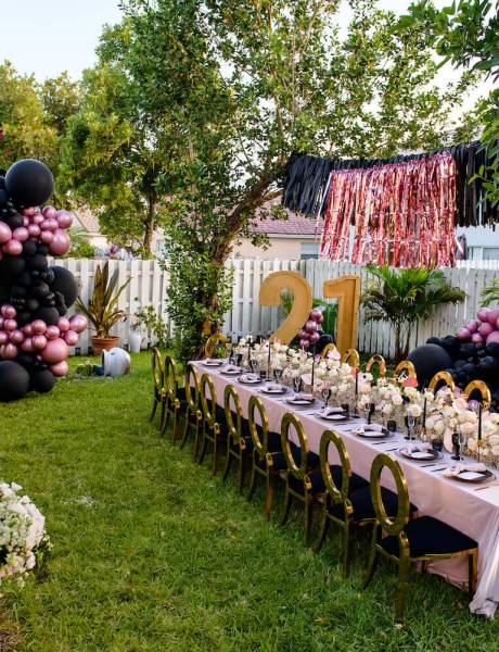 Black & Pink Themed 21st Birthday Celebration-2