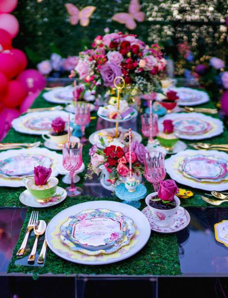 Colorful Outdoor Children's Tea Party Celebration-7