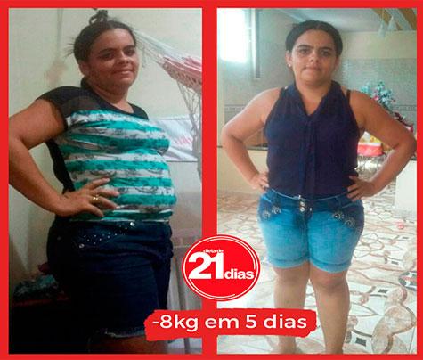 Dieta de 21 dias: antes e depois da Alana