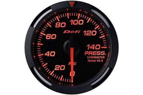 DEFI DF06602 Red Racer oil or fuel pressure gauge (PSI) 52mm