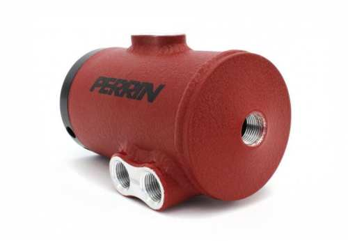 PERRIN (PSP-ENG-606RD)  AIR OIL SEPARATOR Kit for 08-13 WRX/STI Red Wrinkle Finish