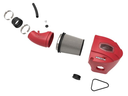 aFe Power Momentum GT 'Limited Edition Red' Cold Air Intake System w/Pro DRY S Filter  ADDS UP TO: +18% FLOW INCREASE   +16 HP HORSEPOWER   +15 Lbs. x Ft. TORQUE MAX GAINS Dodge/Chrysler Challenger/Charger/300 SRT/SRT-8 11-19 V8-6.4L HEMI