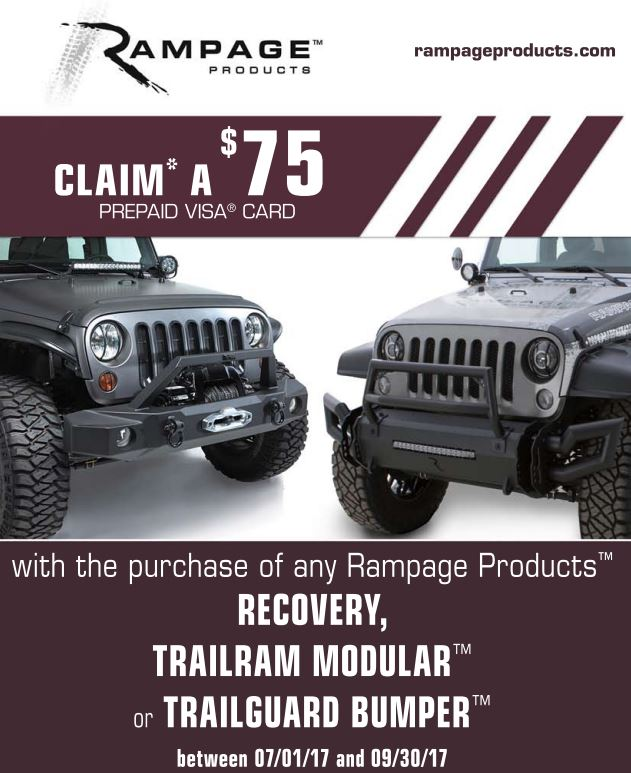Rampage Products 75 Card on Bumper Purchase