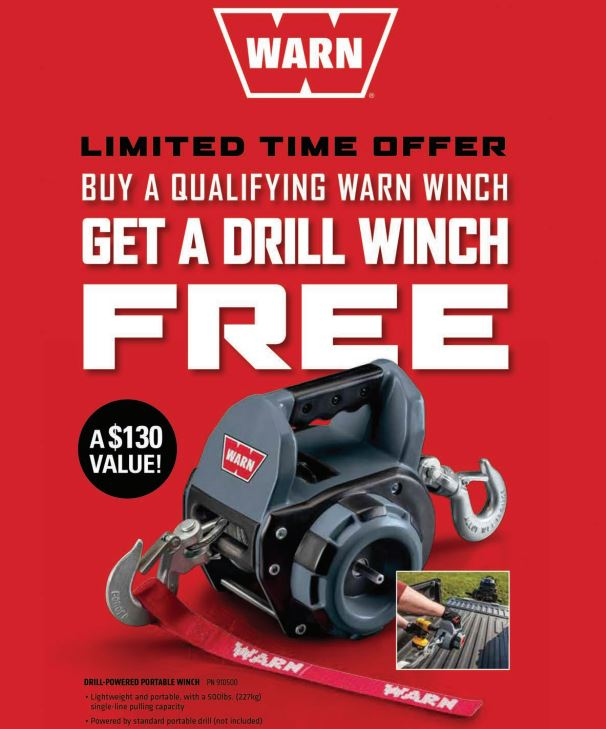WARN Free Drill Winch with Winch Purchase