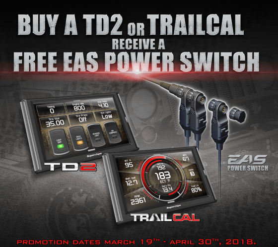 Superchips Free EAS Power Switch with TD2 or TrailCal Purchase