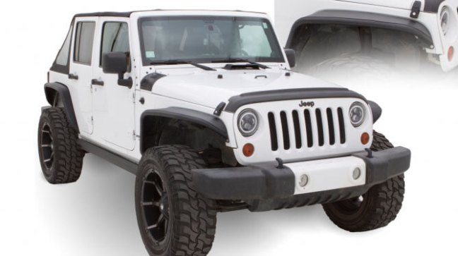 Bushwacker (10930-19): Aluminum Tube Fender Flares for 2018 Jeep Wrangler