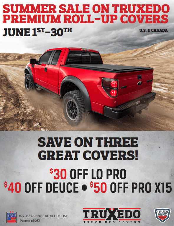 TruXedo: Summer Sale on Lo Pro, Deuce, and Pro X15 Truck Bed Covers