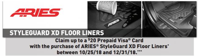 ARIES 20 Card on StyleGuard XD Floor Liners