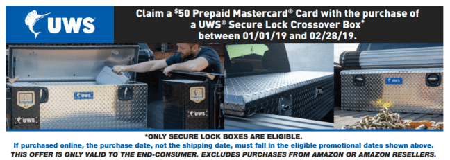 UWS: Get a $50 Prepaid Card on Secure Lock Crossover Toolbox Purchases