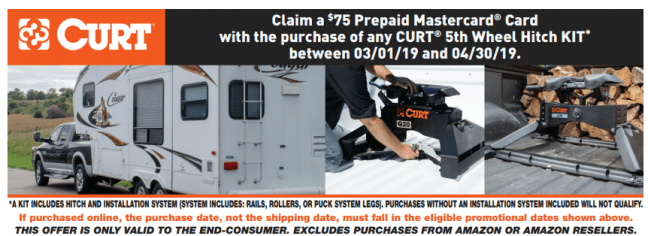 CURT: Get $75 Back on Any 5th Wheel Hitch Kit Purchase