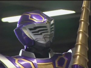 Evil Kamen Rider Strike prepares for battle