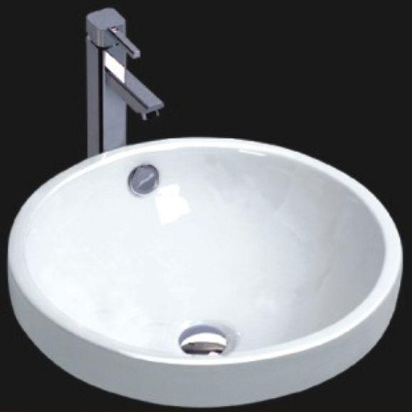 Round Porcelain Semi Recessed Bathroom Sink 16 Quot X 7 5