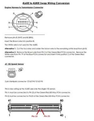 4L60E to 4L80E Wiring Swap  PerformanceTrucks Forums
