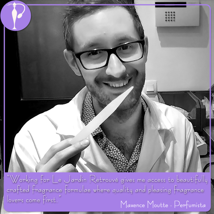 Perfumart - Maxence Moutte quote