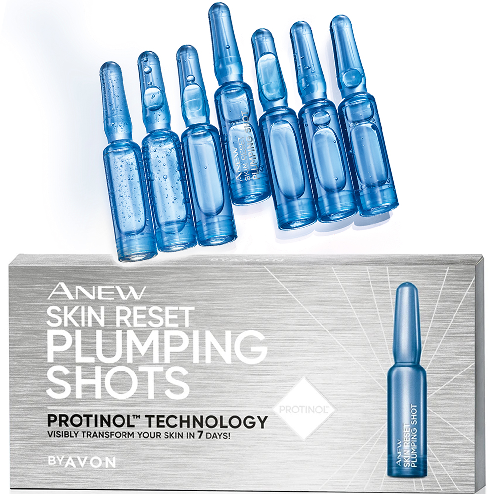 Avon Anew Skin Reset Plumping Shots 7×1.3ml with Protinol
