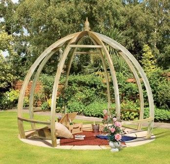 a patio circle for a pergola