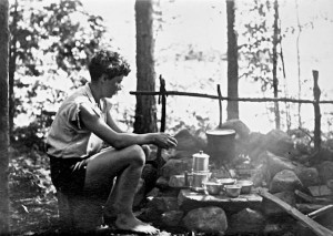 Barbara Newhall Follett, camping in Maine