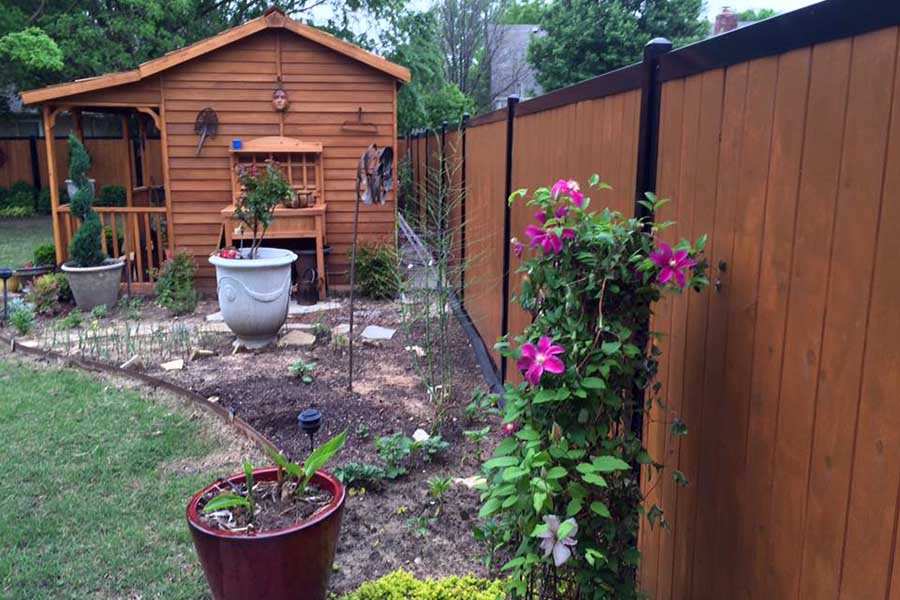 11 Backyard Fence Ideas [Beautiful Privacy For People ... on Decorations For Privacy Fence id=74066