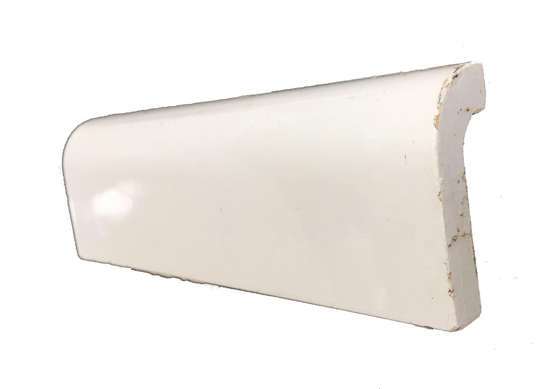 antique gloss white or bone mud cap molding bathroom tile 6