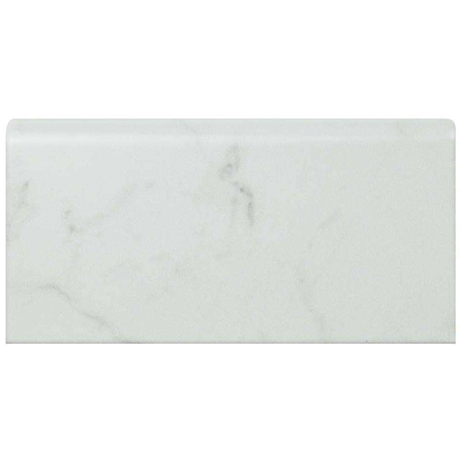 classico carrara glossy bullnose 3 x 6 ceramic trim marble look subway tile sold per piece 1 square feet per piece
