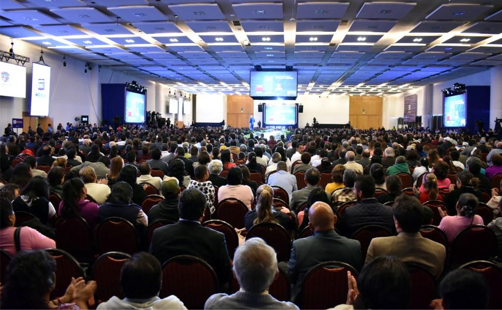 Así lució el Salón del Querétaro Centro de Congresos, en el Informe Ciudadano de Marcos Aguilar Vega.