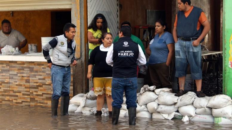 Lluvias afectan a 33 viviendas en Querétaro Capital