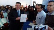 Las encuestas me favorecen: Armando Rivera; se registra como precandidato al Senado por el PAN