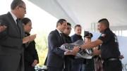El Gobernador del Estado Francisco Domínguez entrega vehículos y equipo a corporaciones de seguridad por 123 mdp