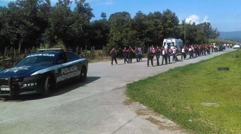 Brinda SSP apoyo vial en actividad educativa, en Tocumbo