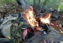En acción interinstitucional, se destruyó narco campamento en Coalcomán