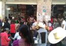 Impresionantes aglomeraciones en el centro de Zitácuaro