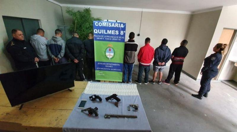 Detienen a 9 delincuentes que asolaban Bernal y Quilmes