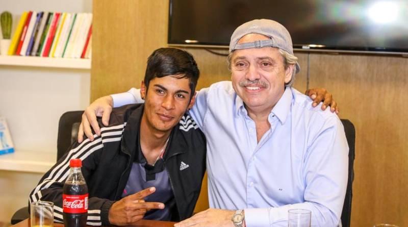 Alberto Fernández y Brian Gallo