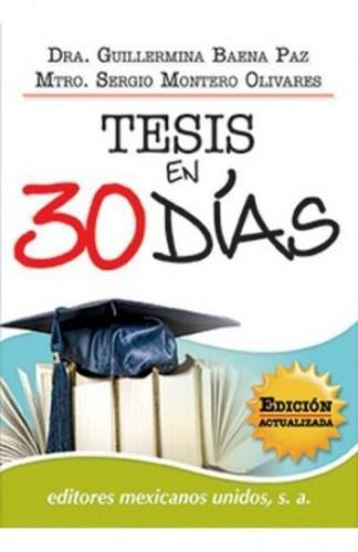 Descarga el libro Tesis en 30 días