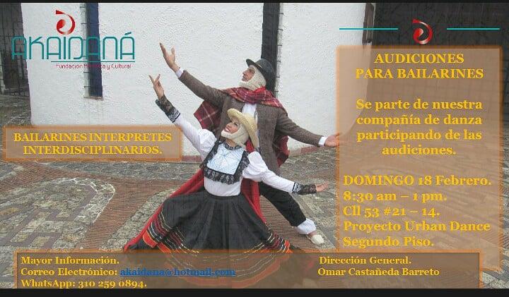 Audiciones para bailarines Akaidaná