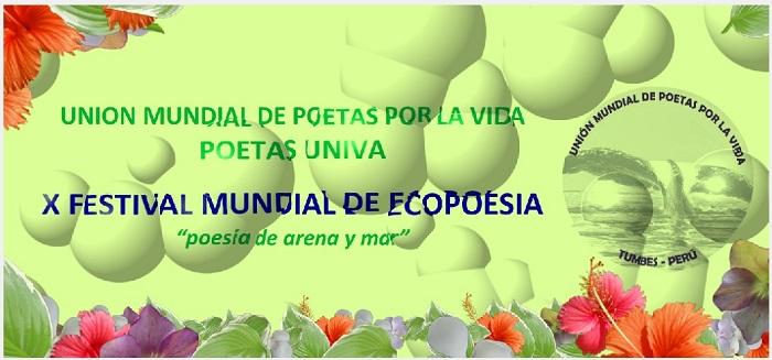 """Convocatoria X Festival Mundial de Ecopoesía """"Poesía de Arena y Mar"""""""