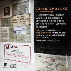 70 años después del homicidio de Jorge Eliécer Gaitán, su memoria sigue viva en los monumentos y el centro histórico
