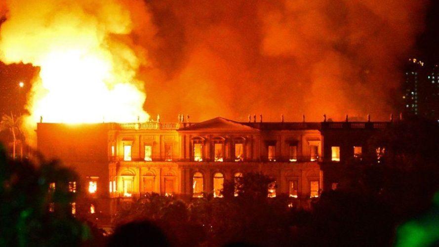 Las piezas valiosas perdidas en el incendio del museo de Brasil