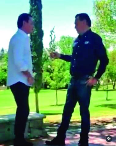 Miguel Angel Osorio Chon y el candidato del PAN al gobierno de Querétaro, Mauricio Kuri González.