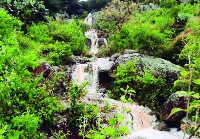 El huracán Grace permitió que surgiera la misteriosa Cascada de Huapalcalco, un cauce que suele aparecer cuando hay una gran precipitación pluvial como la que dejó el huracán la semana pasada. (Foto de Fotografiando Hidalgo)