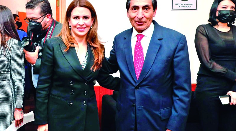 La diputada federal Almara Carolinia Viggiano y el secretario de Hacienda, Rogelio Ramirez, en la comparesencia del segundo, en la Cámara de San Lázaro.