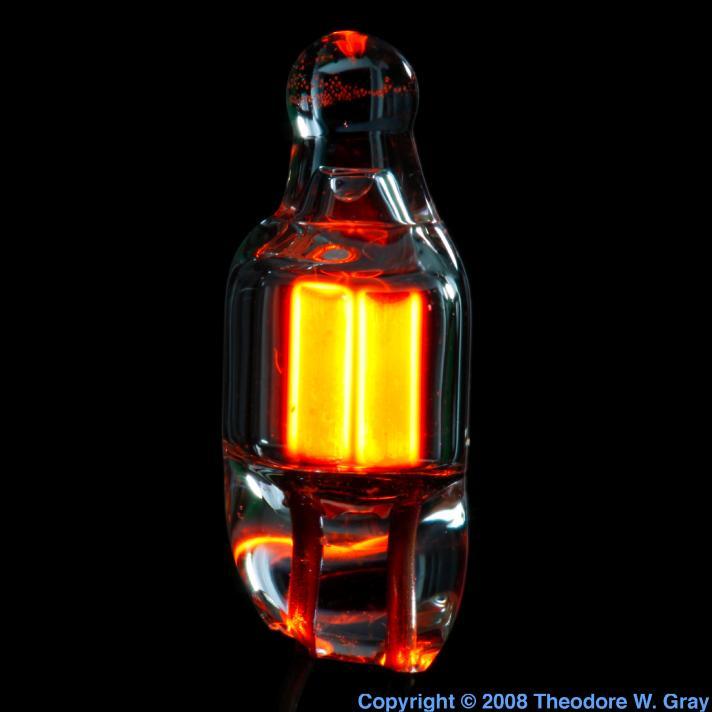 Neon Tiny neon bulb lit