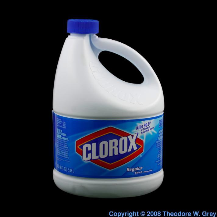 Chlorine Clorox bleach