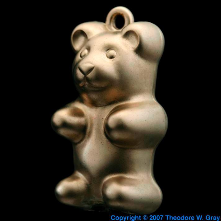 Chromium Chrome plated gummy bear