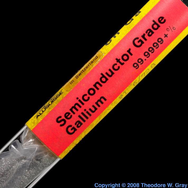 Gallium Semiconductor grade gallium