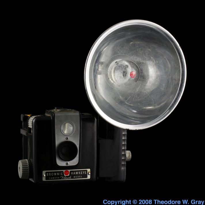 Zirconium Brownie camera with flash bulb